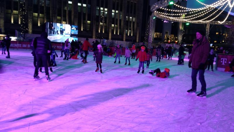 Pista de patinagem em Dusseldorf