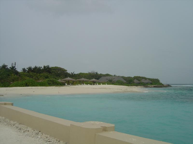 Paisagem nas Maldivas
