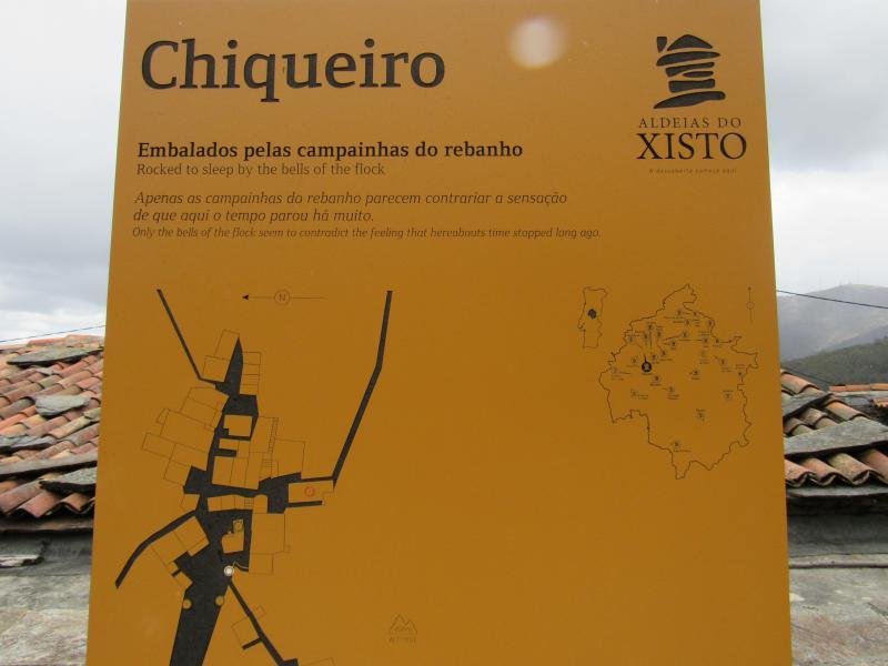 Mapa da Aldeia do Xisto Chiqueiro