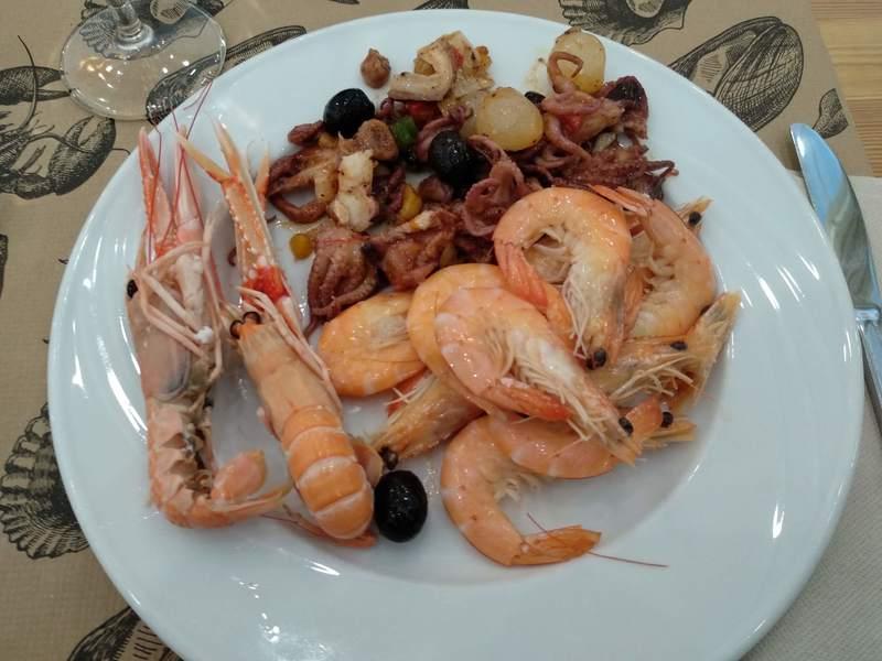 prato de marisco no Palas Pineda