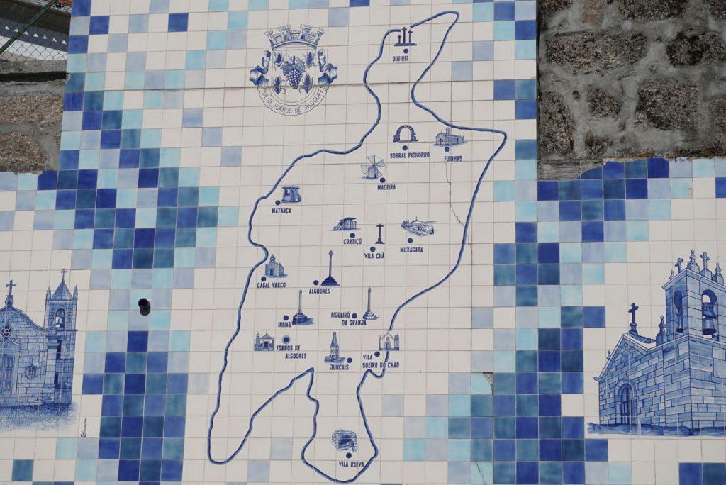 Mapa de Fornos de Algodres o que visitar